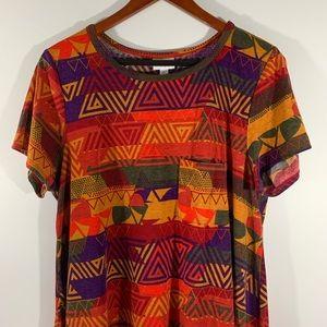 LULAROE . Short Sleeve Carly Dress . XL
